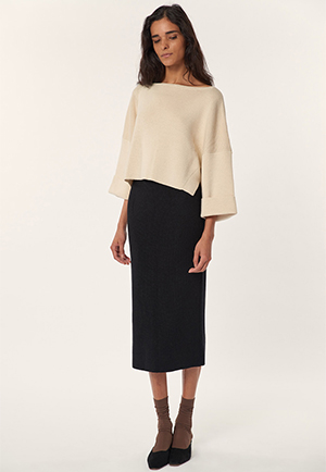 holiday fashion: Mara Hoffman Eva Sweater and Susan Skirt