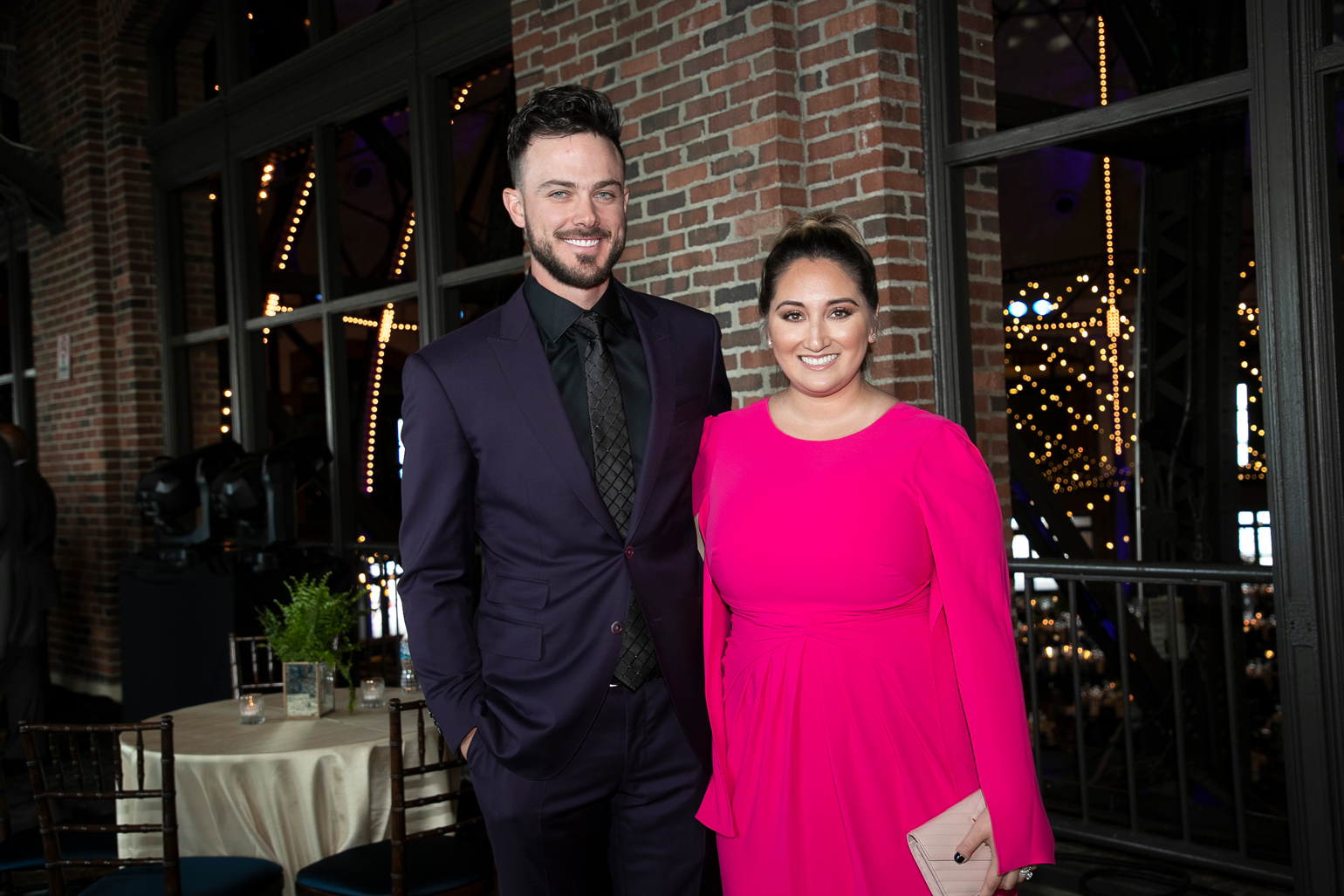 Kris Bryant and Jessica Bryant at Cubs Charities' Bricks and Ivy Ball 2019