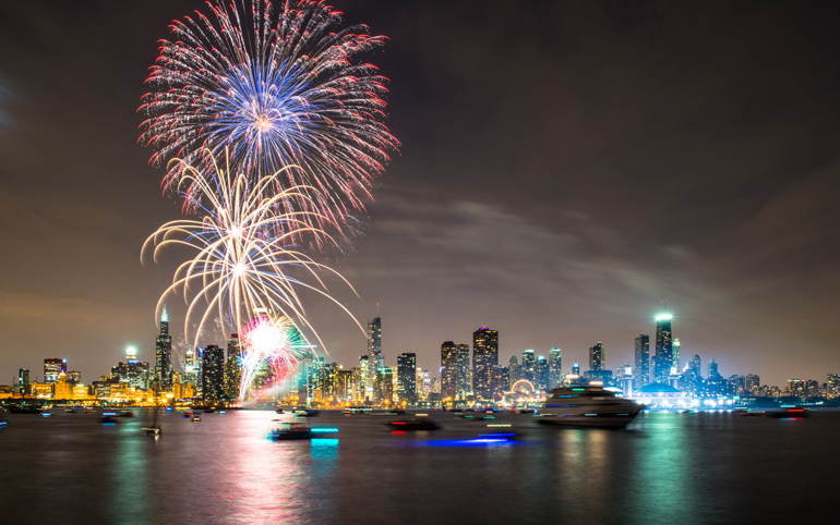 New Year's Eve at Navy Pier in Chicago