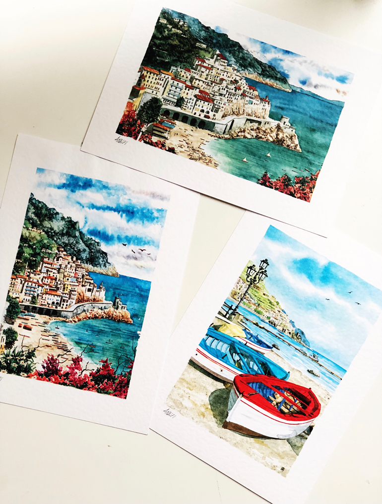 mother-daughter vacation: Amalfi Coast postcards